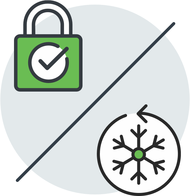 Credit Report Lock vs Security Freeze Illustration