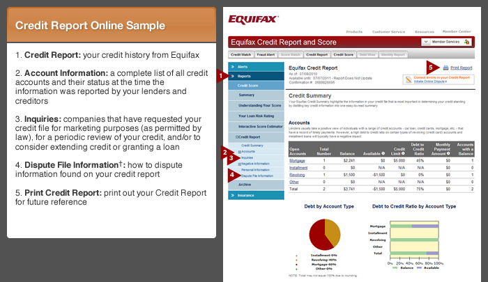 Equifax Credit Report & Score™ Tour