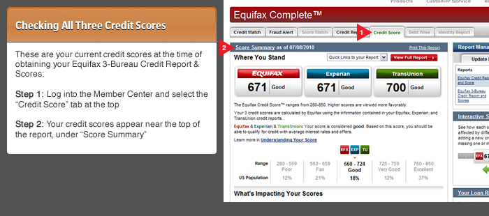 free credit report from equifax