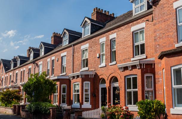 Terraced brick houses